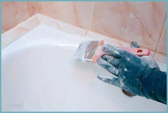 Жидкий акрил для ванной: технология применения, варианты покрытия, ремонт и восстановления разных типов ванн (120 фото)