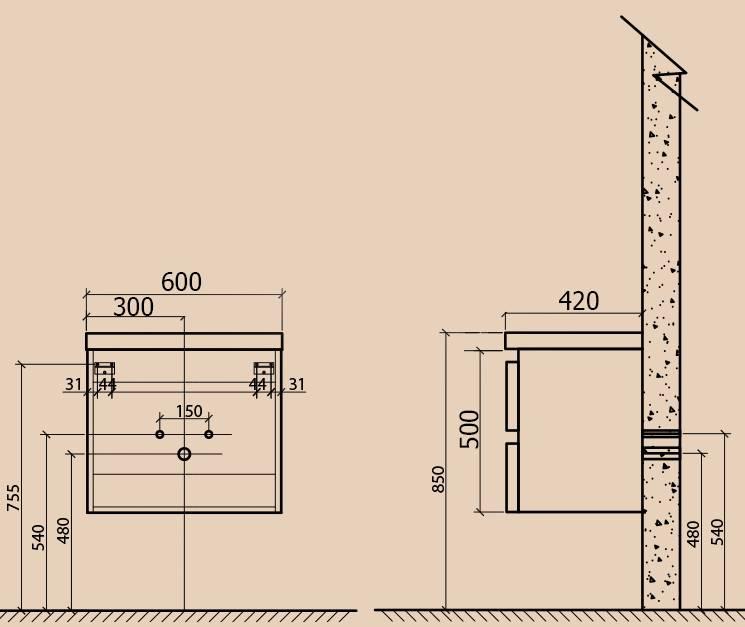 Подвесная тумба с раковиной: советы по выбору + разбор технологии установки