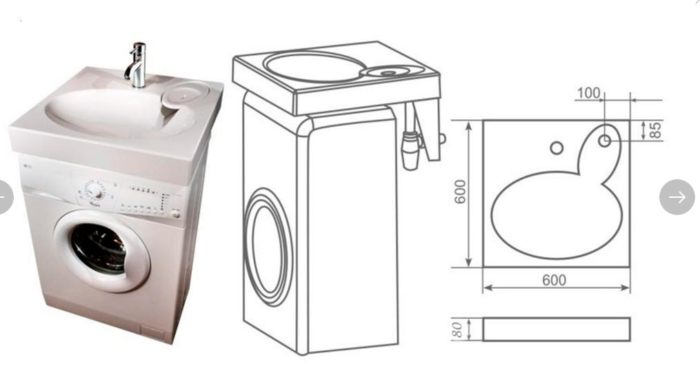 Раковина над стиральной машиной (65 фото) - виды и модели, как установить