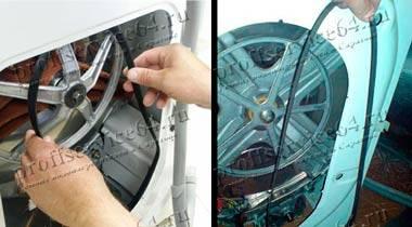 Как выбрать и надеть ремень на стиральную машину? когда необходима его замена?