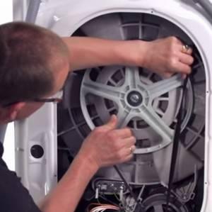 Как натянуть и одеть ремень на стиральной машине