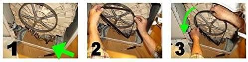 Как надеть ремень в стиральной машине