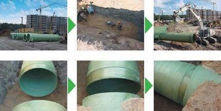Характеристики стеклопластиковых труб и область применения
