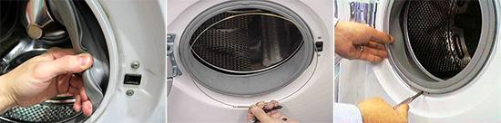 Как заменить манжету люка стиральной машины samsung?