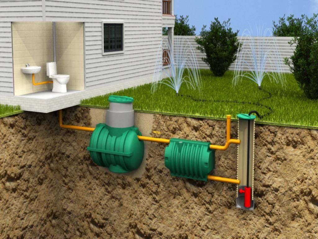 Расчет септика для частного дома из семьи 4-5 человек из бетонных колец