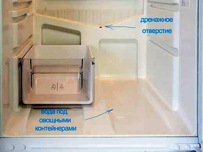 Почему холодильник течет снизу: причины неисправности и что делать в домашних условиях