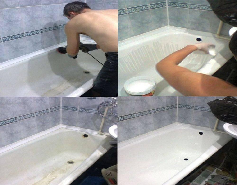 Как покрывать ванны акрилом: методы реставрации и цена