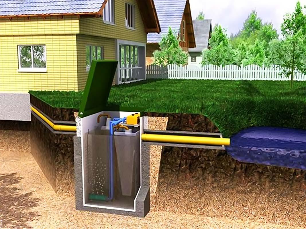 Правильная разводка труб канализации в частном доме