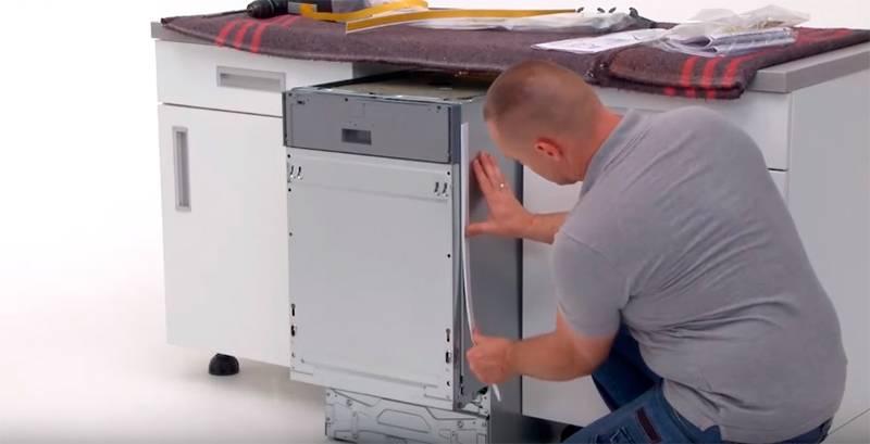 Установка посудомоечной машины bosch