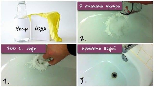 Чем отмыть ванну до бела в домашних условиях народными средствами