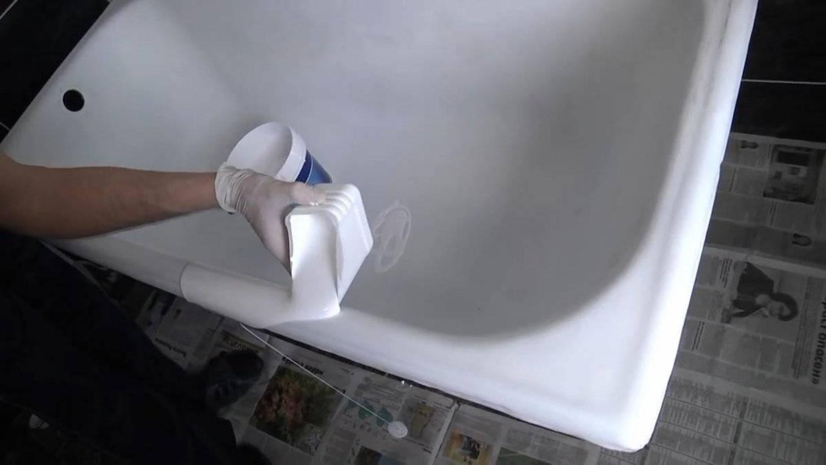 Реставрация ванны жидким акрилом: выбор материала и технология проведения работ