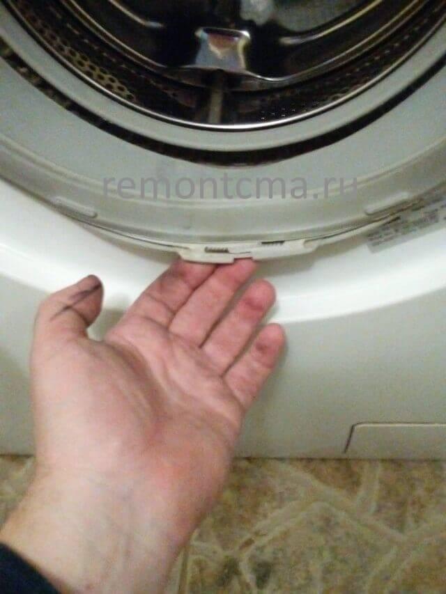 Как снять и заменить резинку на барабане стиральной машины lg? тонкости замены манжеты люка. как поменять уплотнительную резинку?