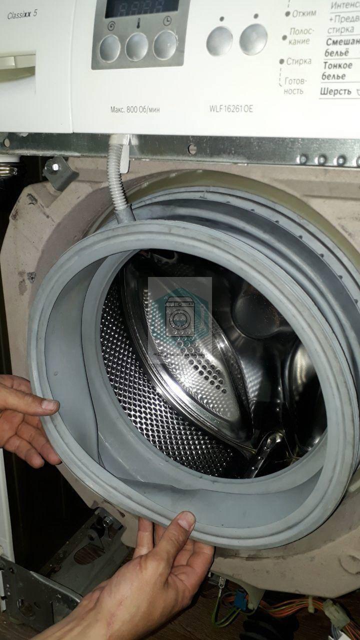 Замена манжеты люка стиральной машины lg