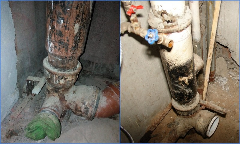 Замена канализационного стояка в квартире - меняем чугун на пластик, демонтаж старого стояка и установка нового